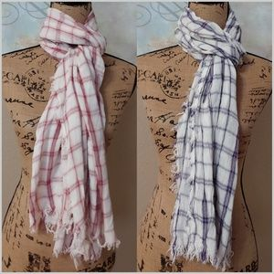 Converse Plaid OS 2 LOT Scarves Wraps Scarf